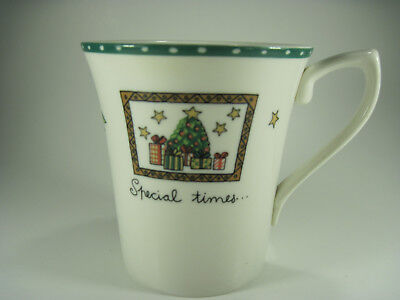 Mikasa CHRISTMAS WISH Mug Ultima Fine China 10 ounces