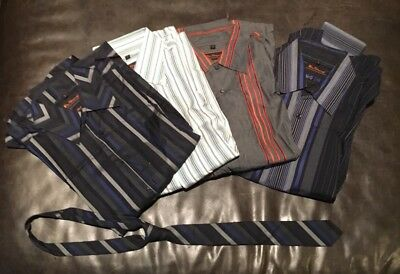 Lot of 4 BEN SHERMAN shirts and 1 tie (medium and large)