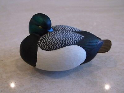 DUCKS UNLIMITED Jett Brunet Miniature MINI Decoy 2004 Blue Bill Scaup 2004 EUC