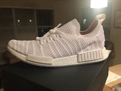 timeless design 2241f ce658 New Adidas Nmd R1 Primeknit Stlt Boost Men's Shoes White Grey Pink Sneakers  $170
