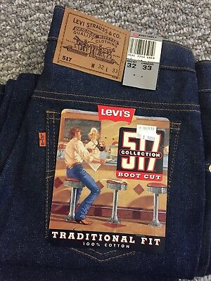 Vintage Levis 517 32 X 33 Orange Tab New w/tags Made In USA