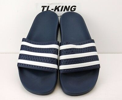 f65f4e2da60 Adidas Originals Adilette Slides Sandals Navy Blue White Made in Italy  288022 GE