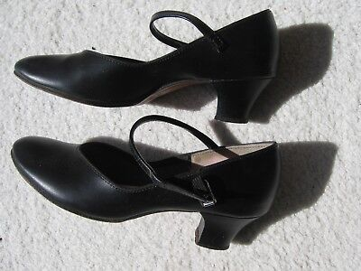 Gently Used Capezio 550 Black Jr Footlight Character Dance Shoes Womens 6.5 M