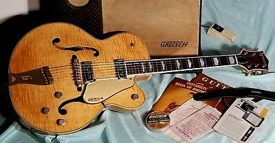 Vintage 1956 Gretsch Country Club guitar, flamed blonde. Rare amp included!