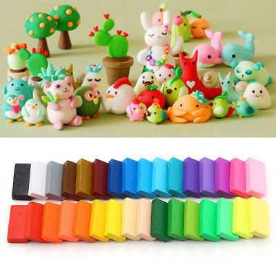 32 Colour Starter Pack Oven Bake Polymer Clay Block Modelling Sculpey Tool Set