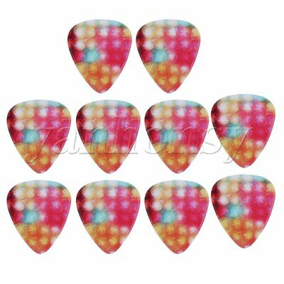 10 pieces Colorful Light Pattern Guitar Plectrums Stylish Picks