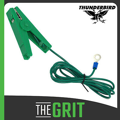 Thunderbird Green Earth Lead Ring End Electric Fence Energiser Replacement EF171
