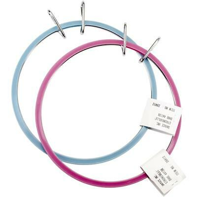Spring Tension Hoop Assorted Colour embroidery 7 inch