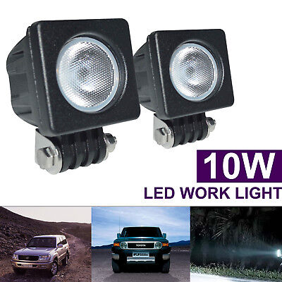 1PC 2''10W Cree LED Work Light Flood Lamp Driving Fog Car Motorcycle Boat 12-24v
