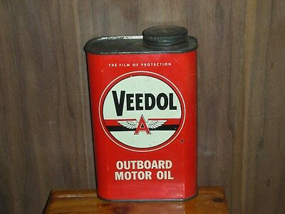 Veedol outboard oil can 1 US. quart good used condition  empty         b2
