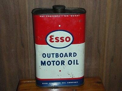 Esso outboard oil can 1 US. quart empty  ok shape                  26
