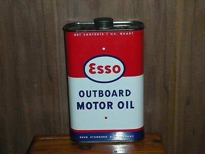 Esso outboard oil can 1 US. quart close to mint                      3
