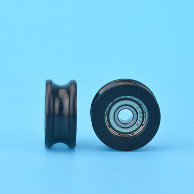 U Nylon plastic Embedded 624 Groove Ball Bearings 4*19*8.5mm Guide Pulley
