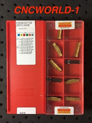 10 Pcs Sandvik N123K2-0600-0004-TF 4325 , 1 Box !  MONEY BACK GUARANTEE !