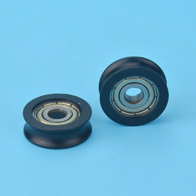 U Nylon plastic Embedded 625 Groove Ball Bearings 5*20*7mm Guide Pulley