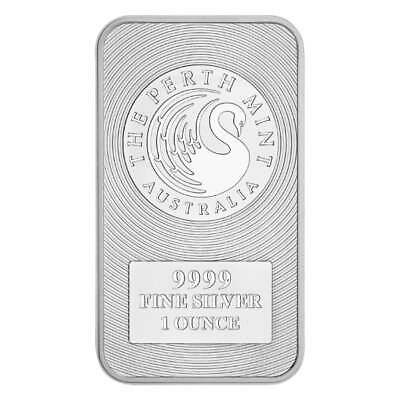 Australian Kangaroo 1oz .9999 Silver Minted Bullion Bar - The Perth Mint