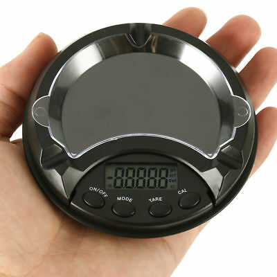 Ashtray Mini Digital Pocket Scale 0.01-100g, 500g LCD Back-lit Jewelry Weighing