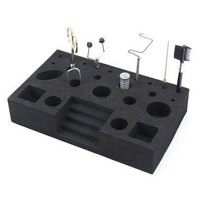 Fishing Fly Tying Tool Hard Foam Vise Clamp Tools Holder Organizer Station