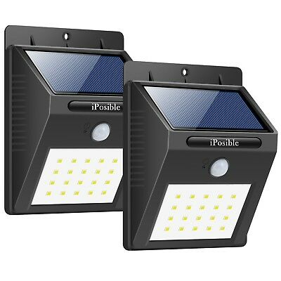 Foco Solar Luces Solares 20 LED1200mAh Lámparas Solares de Pared Impermeable 2PC