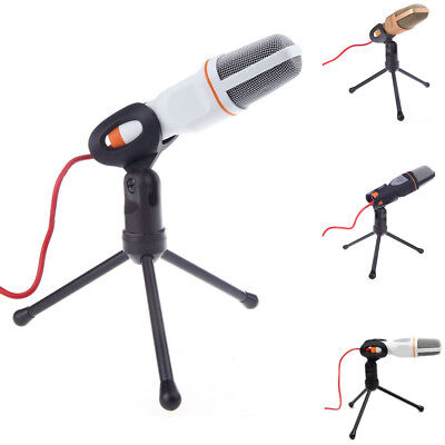Microphone Sound Studio Recording Low Noise Mic With Stand Holder For PC Laptop