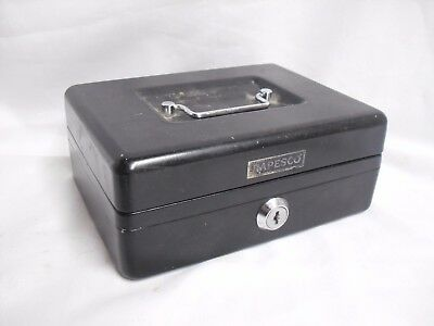 VINTAGE Metal TIN BOX Change CASH Tool STORAGE Organiser RAPESCO 7.5, 5.5, 3.2""