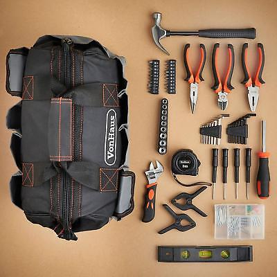New Starter Tool Kit And Bag 92 Piece DIY First House Everyday Repairs UK Brand