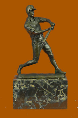 Hand Painted Bronze Solid ball Player Art Sports Statue Figurine Hot Cast HQ