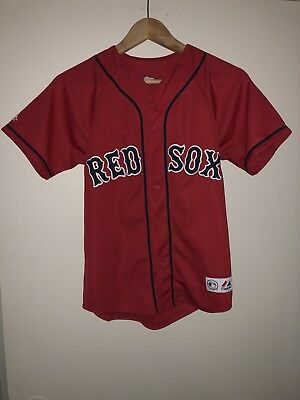 Boston Red Sox Baseball - Alternate Red Jersey - 34 Inch Youth Medium - Papelbon