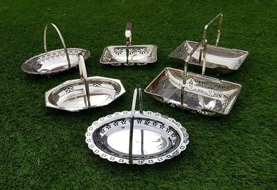 Job lot of vintage style silver plated dinner party serving ware dishes plates