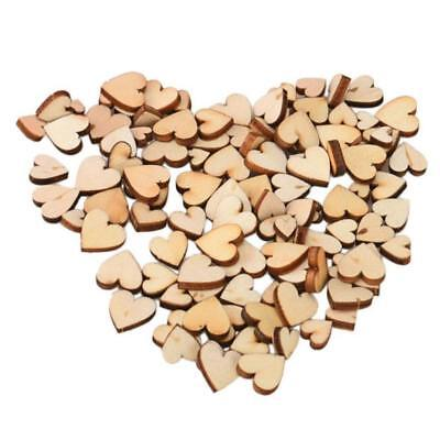 200*Mini Wooden Small Mix Rustic Love Heart Wedding Table Scatter Decoratio UKP