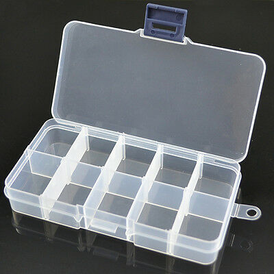 10 Girds Compartment Storage Box Case For Nail Art Jewelry Perler/Hama Be qlll