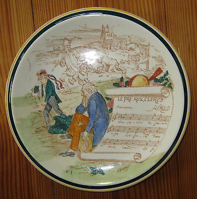 "Vernon Kilns Le Pre Aux Clercs Collector Plate French Reproduction 8.5"" Opera"