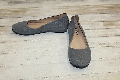 06c0cf27afc7c fs/ny French Sole Zeppa Petite Wedge Shoes, Women's Size 8.5, Grey Foil