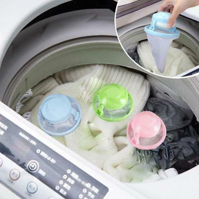 Home Floating Lint Hair Catcher Mesh Pouch Washing Machine Laundry Filter Bag LH