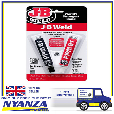JB Weld J-B Original Cold Weld Formula Steel Reinforced Epoxy Metal Wood Plastic