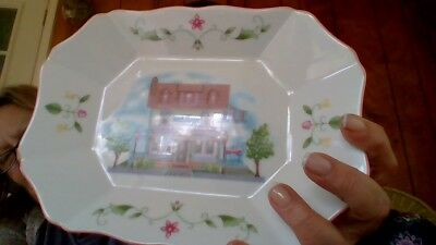 """Beautiful Lenox """"the Lenox Village Candy Tray""""  Fine Porcelain Perfect Brand New"""