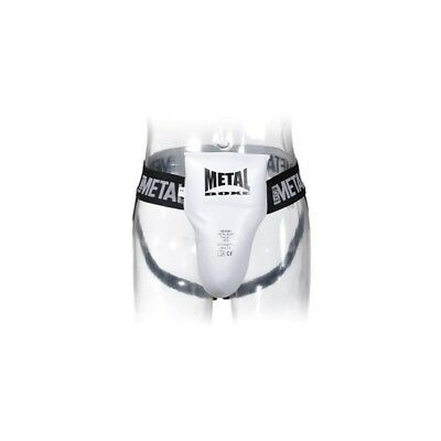 Coquille homme semi pro Metal boxe blanche