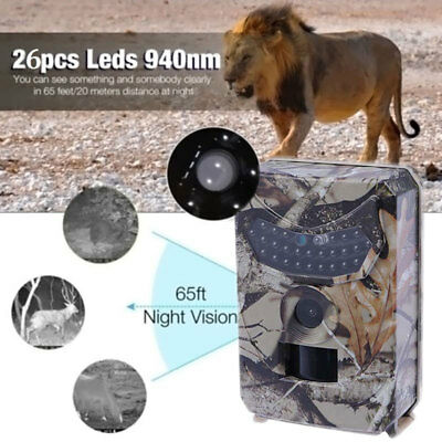 Infrared Night Vision HD 1080P IR 12MP 120°  Trail Security Camera Hunting Cam