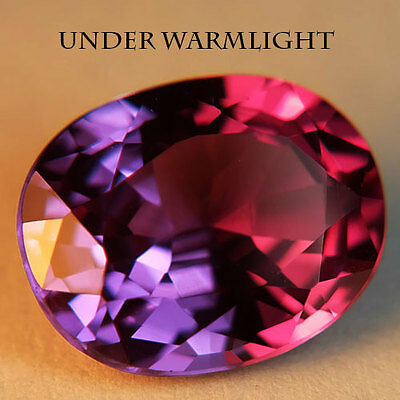 6.50ct.AWESOME RUSSIAN COLOR CHANGE ALEXANDRITE OVAL GEMSTONE