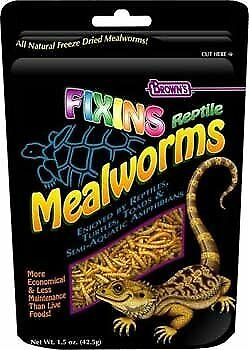 Small Animal Supplies Fixins Mealworms For Reptiles 1.5Oz