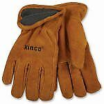 Kinco International 50RL L Men's Lined Cowhide Leather Gloves Large - Quantity 6