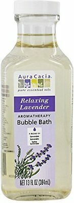 Aura Cacia Aromatherapy Bubble Bath Relaxing Lavender 13 oz (Pack of 5)