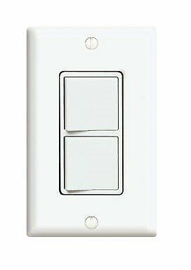 Leviton C22-05679-00W White Commercial Grade Decora AC Combination Switch Rocker