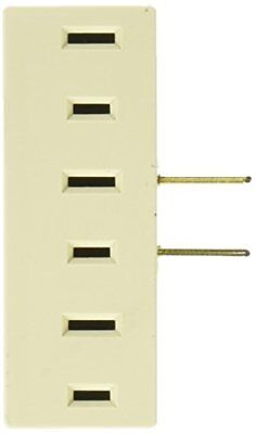 Leviton 001-00065-00I 001-65-I Triple Tap Plug-In Outlet Adapter Ivory