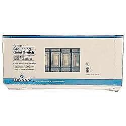 Leviton M01-1451-2IM Ivory Residential Grade AC Quiet Switches Toggle 10 Pack