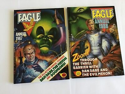 Two Vintage Eagle Annuals 1987 & 1988