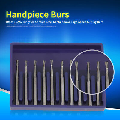 10pcs FG245 Tungsten Carbide Steel Dental Crown High-Speed Cutting Burs Hot