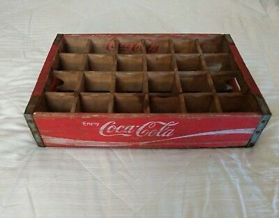 Vintage Coca Cola Wood Soda Pop Case Carrier Crate 24 Dividers 1974 Chattanooga