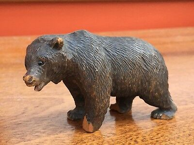 Black Forest Carved Wood Figure of a Bear