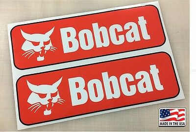 Pair of Printed Orange rocker Decal Stickers for S and T series USA fits bobcat